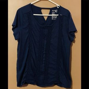 Navy Tee with Stripes